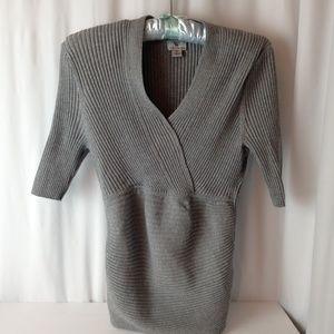 Worthington gray ribbed sweater size Small